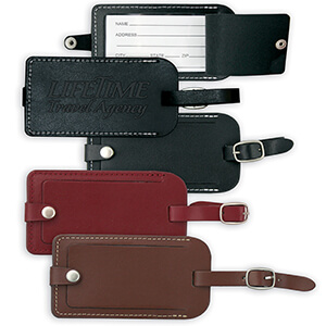 8076 - Vintage Leather Luggage Tag