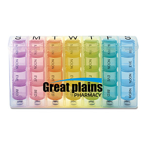 MI1202 - Rainbow Spring Loaded 7-Day Pill Box